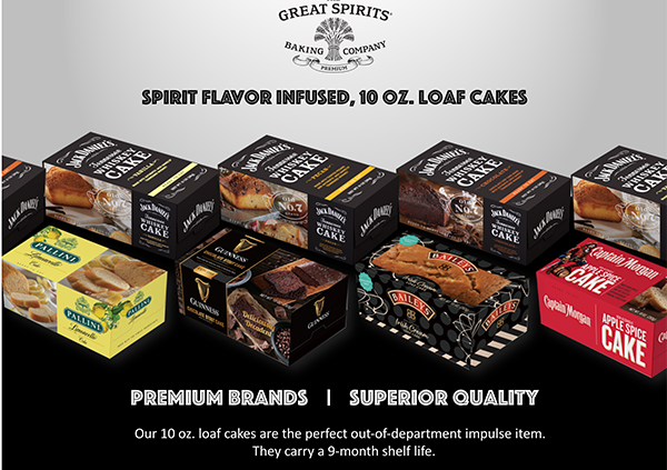 In preparation for the holiday season, Great Spirits Baking Company has added a new line of loaf cakes to its portfolio